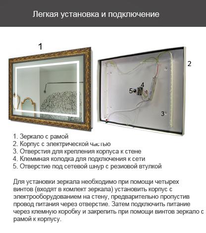 Установка зеркала